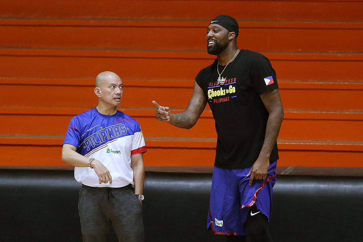Tiebreaker Times Andray Blatche set to arrive on July 8 2019 FIBA World Cup Qualifiers Basketball Gilas Pilipinas News  Gilas Pilipinas Men Gabby Cui 2019 FIBA World Cup