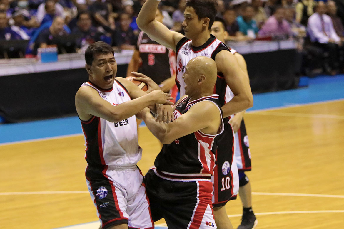 Tiebreaker Times Even in exhibition game, Allan Caidic, 55, admits there's still pressure to deliver Basketball News PBA  San Miguel Beermen Return of the Rivals 2019 PBA Season 44 Allan Caidic