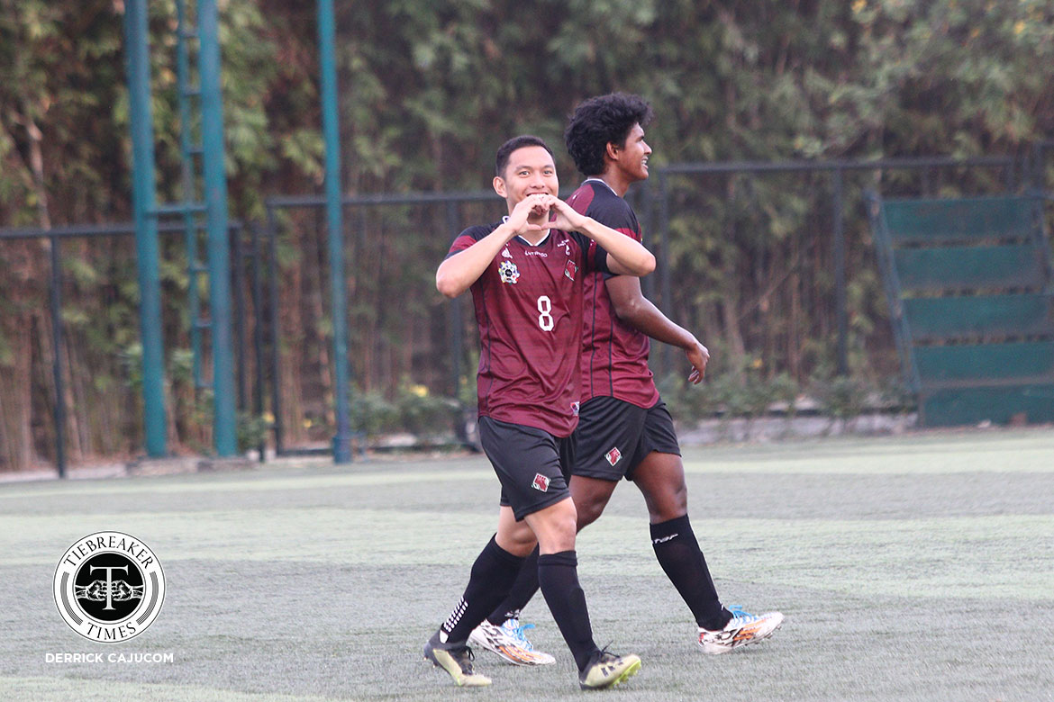 Tiebreaker Times JB Borlongan screamer sends UP Fighting Maroons to win over NU Football News NU UAAP UP  UP Men's Football UAAP Season 81 Men's Football UAAP Season 81 Ross Lee Lawagan NU Men's Football Mari Aberasturi Kyle Magdato Joshua Broce JB Borlongan Anton Yared Anto Gonzales