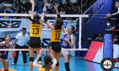 Tiebreaker Times Ateneo Lady Eagles muster comeback, squeak past FEU ADMU FEU News UAAP Volleyball  UAAP Season 81 Women's Volleyball UAAP Season 81 Oliver Almadro Maddie Madayag Kat Tolentino Heather Guino-o George Pascua FEU Women's Volleyball Deanna Wong Dani Ravena Celine Domingo Ateneo Women's Volleyball