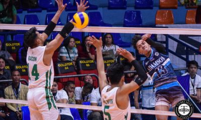 Tiebreaker Times George Labang shines as Adamson Soaring Falcons dash La Salle for second win AdU DLSU News UAAP Volleyball  UAAP Season 81 Women's Volleyball UAAP Season 81 Pao Pablico Jesus Valdez George Labang Domeng custodio DLSU Men's Volleyball Cris Dumago Carlo Jimenez Arnold Laniog Adamson Men's Volleyball