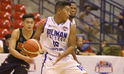 Tiebreaker Times Joseph Brutas lauds Diliman's guts in stunner of SMDC-NU in D-League Basketball News PBA D-League  Joseph Brutas Diliman College-Gerry's Grill Blue Dragons 2019 PBA D-League Season