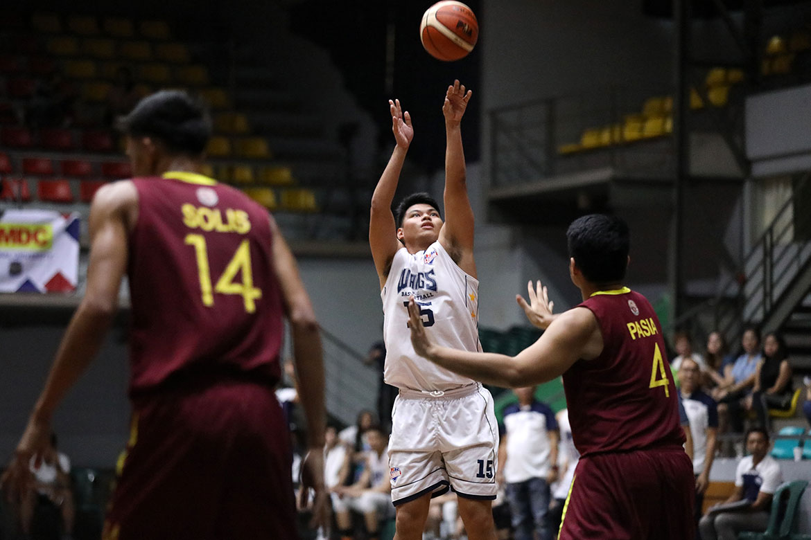 Tiebreaker Times Gelo Vito powers Wangs past Perpetual for 2nd straight win Basketball News PBA D-League UPHSD  Radge Tongco Perpetual Seniors Basketball Pablo Lucas Gelo Vito Frankie Lim Edgar Charcos Ben Adamos Arvin Tolentino 2019 PBA D-League Season