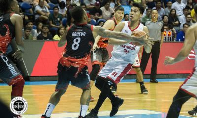 Tiebreaker Times Aljon Mariano does not let Calvin Abueva's antics get into his head Basketball News PBA  Tim Cone PBA Season 44 Barangay Ginebra San Miguel Aljon Mariano 2019 PBA Philippine Cup