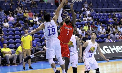 Tiebreaker Times Mo Tautuaa hopes for the best after hurting back vs TNT Basketball News PBA  PBA Season 44 Northport Batang Pier Mo Tautuaa 2019 PBA Philippine Cup