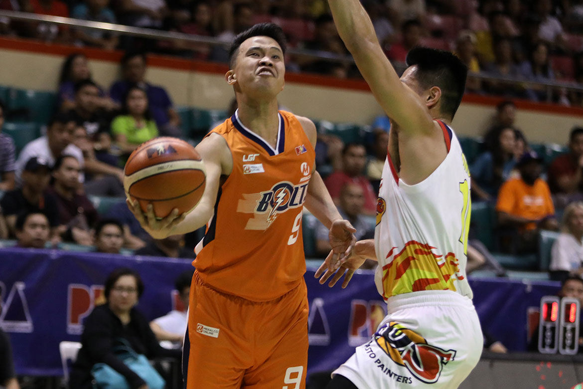 Tiebreaker Times Baser Amer fights off tears after missed game-winner: 'Tira ko talaga yun eh' Basketball News PBA  PBA Season 44 Meralco Bolts Baser Amer 2019 PBA Philippine Cup