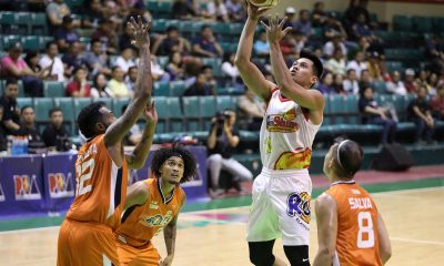 Tiebreaker Times Rain or Shine survives Meralco to keep twice-to-beat hopes alive Basketball News PBA  Reynel Hugnatan Rain or Shine Elasto Painters PBA Season 44 Norman Black Nico Salva Meralco Bolts Maverick Ahanmisi Javee Mocon James Yap Ed Daquioag Caloy Garcia Bryan Fuando Baser Amer 2019 PBA Philippine Cup