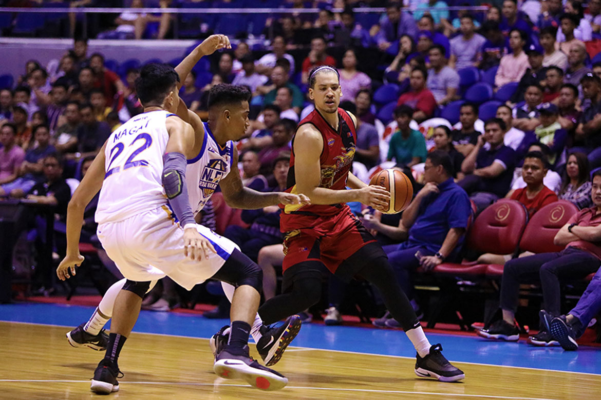 Tiebreaker Times Marcio Lassiter first to wear self-lacing shoe in PBA Basketball News PBA  San Miguel Beermen PBA Season 44 Marcio Lassiter 2019 PBA Philippine Cup