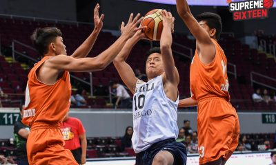 Tiebreaker Times Terrence Fortea shoots NU Bullpups to NBTC Supreme 16 Basketball CSB NBTC News NU  Top Flight Hoops Vancouver Terrence Fortea SWU Juniors Basketball Reimar Cruz NU Juniors Basketball LSGH Juniors Basketball Kit Miramor Jerric Palma Inand Fornillos Harvey Sanchez Gerry Abadiano 2019 NBTC Season