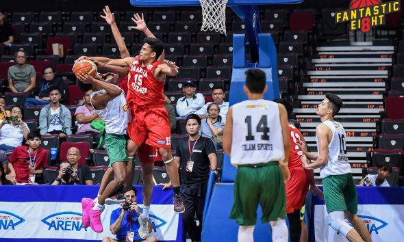 Tiebreaker Times San Beda's Ynot proves he is an All-Star with game-sealing block of Green Basketball NBTC News SBC  Tony Ynot San Beda Juniors Basketball 2019 NBTC Season