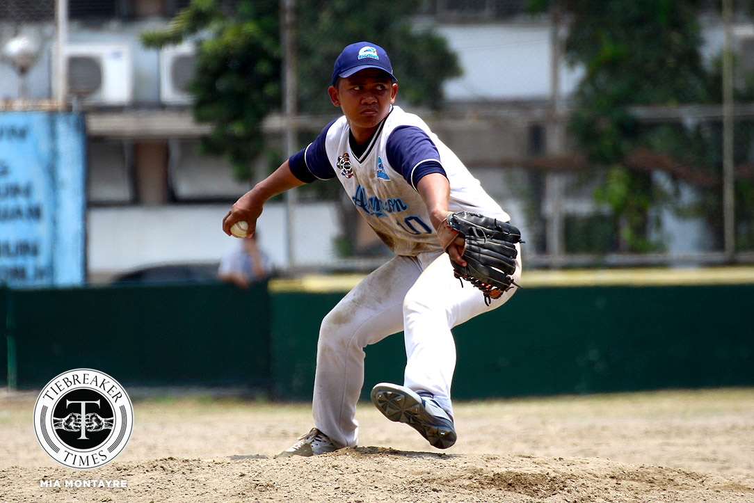 Tiebreaker Times Christian Maigue's two-pronged game saves Adamson against UP AdU Baseball News UAAP UP  UP Baseball UAAP SEASON 81 Baseball UAAP Season 81 Orlando Binarao Lexter Carandang Kouichi Igarashi Jerico Cagas Christian Maigue Basil Taylo Anthony Dizer Allen Mercado Adamson Baseball