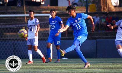 Tiebreaker Times Jarvey Gayoso dazzles, Mark Nacional tallies brace as Ateneo sinks Adamson ADMU AdU Football News UAAP  UAAP Season 81 Men's Football UAAP Season 81 Mark Nacional Luka Alleje Jay Pee Merida Jarvey Gayoso Jae Arcilla Carl Viray Ateneo Men's Football Arvin Soliman Adamson Men's Football