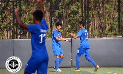Tiebreaker Times Jarvey Gayoso scores hattrick in Ateneo's 6-goal rout of Adamson ADMU AdU Football News UAAP  UAAP Season 81 Men's Football UAAP Season 81 Mark Nacional Julian Roxas Jeremiah Rocha Jay Pee Merida Jarvey Gayoso Jae Arcilla Jabez Setters Carl Viral Ateneo Men's Football Arvin Jay Soliman Adamson Men's Football