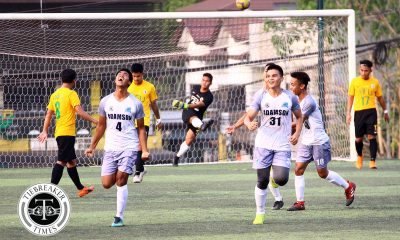 Tiebreaker Times Kim Bardaje soars highest as valiant Adamson earns draw over league-leader FEU AdU FEU Football News UAAP  UAAP Season 81 Men's Football UAAP Season 81 Park Bo Bae Kim Bardaje Gio Pabualan FEU Men's Football Dave Parac Carl Viray Arvin Soliman Adamson Men's Football