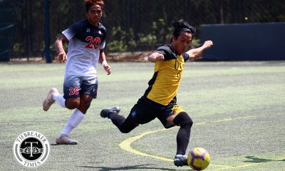 Tiebreaker Times Super subs Steven Anotado, Conrado Dimacali lead UST Booters past UE in five-goal thriller Football News UAAP UE UST  Zaldy Abraham Jr UST Men's Football UE Men's Football UAAP Season 81 Men's Football UAAP Season 81 Steven Anotado Mason Vergara Marjo Allado Frank Rieza Fitch Arboleda Conrado Dimacali III Bon Opeña