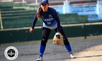 Tiebreaker Times Adamson Lady Falcons clinch top seed as Arianne Vallestero has last laugh over NU AdU News NU Softball UAAP  UAAP Season 81 Softball UAAP Season 81 Sid Abello NU Softball MJ Maguad Mary Ann Ramos Lyca Basa Jenette Rusia Jeanette Rusia Ana Santiago Adamson Softball