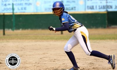 Tiebreaker Times Cristy Arribas books last Final Four ticket for NU Lady Bulldogs News NU Softball UAAP UP  UP Softball UAAP Season 81 Softball UAAP Season 81 Sid Abello Ron Pagkaliwagan Ritchie Dabbay NU Softball Nitchie Rabe Mary Ann Ramos Cristy Arribas