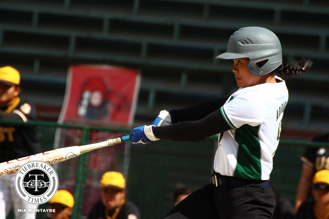 Tiebreaker Times Jamica Arribas' perfect hitting lifts La Salle Lady Batters to second seed DLSU News Softball UAAP UST  UST Tiger Softbelles UAAP Season 81 Softball UAAP Season 81 Nica Velasco Nica Juan Jasper Cabrera Jamica Arribas DLSU Softball Celyn Ojare