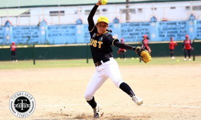Tiebreaker Times UST Tiger Softbelles escape NU, strengthen bid for semis bonus News NU Softball UAAP UST  UST Tiger Softbelles UAAP Season 81 Softball UAAP Season 81 Sid Abello Sandy Barredo NU Softball Mary Ann Ramos Marnie Dela Cruz Hannah dela Torre Celyn Ojare