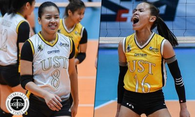 Tiebreaker Times League-leading UST duo Rondina, Laure look to sustain fine form News UAAP UST Volleyball  UST Women's Volleyball UAAP Season 81 Women's Volleyball UAAP Season 81 Kungfu Reyes Eya Laure Cherry Rondina