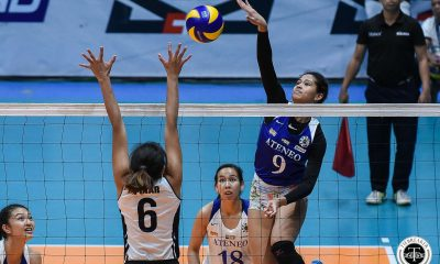 Tiebreaker Times Ateneo Lady Eagles extend streak to five, pounce on Adamson ADMU AdU News UAAP Volleyball  UAAP Season 81 Women's Volleyball UAAP Season 81 Ponggay Gaston Onyok Getigan Oliver Almadro Kim Gequillana Eli Soyud Deanna Wong Bea De Leon Ateneo Women's Volleyball Adamson Women's Volleyball