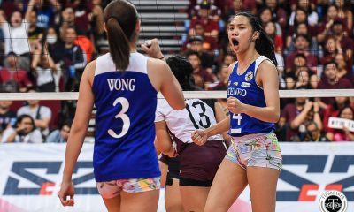 Tiebreaker Times Maddie Madayag, Bea De Leon glad to have been part of 'Battle of Katipunan' ADMU News UAAP Volleyball  UAAP Season 81 Women's Volleyball UAAP Season 81 Maddie Madayag Bea De Leon Ateneo Women's Volleyball