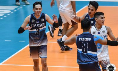 Tiebreaker Times Adamson Soaring Falcons break three-game slide, keep UP winless AdU News UAAP UP Volleyball  UP Men's Volleyball UAAP Season 81 Men's Volleyball UAAP Season 81 Pao Pablico Nico Consuelo Mark Millete Mark Alvarez Leo Miranda Lenard Amburgo Jesus Valdez Hans Chuacuco Adamson Men's Volleyball