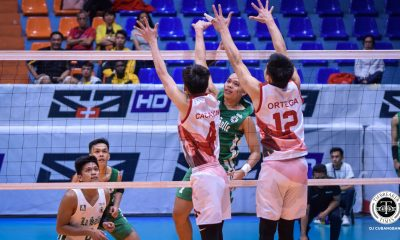 Tiebreaker Times Cris Dumago powers DLSU Green Spikers over UE for 2nd win DLSU News UAAP UE Volleyball  Victorio Turing UE Men's Volleyball UAAP Season 81 Men's Volleyball UAAP Season 81 Rafael Macaspac Geric Ortega DLSU Men's Volleyball Cris Dumago Clifford Inoferio Billie Anima Arnold Laniog Angel Serrano