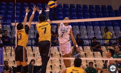 Tiebreaker Times La Salle Green Spikers send UST spiraling to 3rd straight loss DLSU News UAAP UST Volleyball  Wayne Marco UST Men's Volleyball UAAP Season 81 Men's Volleyball UAAP Season 81 Rafael Macaspac Odjie Mamon MAnuel Medina Joshua Umandal DLSU Men's Volleyball Cris Dumago Billie Anima Arnold Laniog