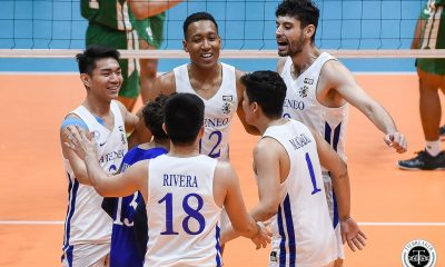 Tiebreaker Times Ateneo Blue Eagles dispatch UP, step closer to Final Four ADMU News UAAP UP Volleyball  UP Men's Volleyball UAAP Season 81 Men's Volleyball UAAP Season 81 Timothy Santo Tomas Ron Medalla Rald Ricafort Mark Millete Manuel Sumanguid Lawrence Magadia Jerry San Pedro Janjan Rivera Ateneo Men's Volleyball