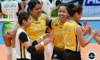 Tiebreaker Times Chooks/Collegiate PC POW Eya Laure believes ailing UST can go all the way News UAAP UST Volleyball  UST Women's Volleyball UAAP Season 81 Women's Volleyball UAAP Season 81 UAAP Player of the Week Eya Laure Chooks-to-Go