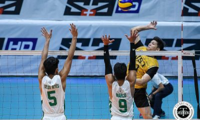 Tiebreaker Times Joshua Umandal powers UST Tiger Spikers sweep of La Salle DLSU News UAAP UST Volleyball  UST Men's Volleyball UAAP Season 81 Men's Volleyball UAAP Season 81 Timothy Tajanlangit Odjie Mamon MAnuel Medina Lester Sawal Keiffer Reyes Joshua Umandal DLSU Men's Volleyball Billie Anima Arnold Laniog