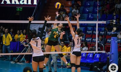 Tiebreaker Times FEU Lady Tamaraws survive gallant Adamson stand, earn third straight win AdU FEU News UAAP Volleyball  UAAP Season 81 Women's Volleyball UAAP Season 81 Onyok Getigan Lycha Ebon Kyle Negrito Joy Dacoron Heather Guino-o George Pascua FEU Women's Volleyball Eli Soyud Buding Duremdes Adamson Women's Volleyball