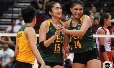 Tiebreaker Times FEU Lady Tamaraws buck up-and-down performance, survive UE FEU News UAAP UE Volleyball  vana Agudo UE Women's Volleyball UAAP Season 81 Women's Volleyball UAAP Season 81 Mary Ann Mendrez Kyle Negrito Karl Dimaculangan Judith Abil George Pascua FEU Women's Volleyball Celine Domingo Buding Duremdes