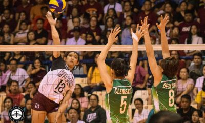 Tiebreaker Times UP Lady Maroons repeat against La Salle, sweep season series DLSU News UAAP UP Volleyball  UP Women's Volleyball UAAP Season 81 Women's Volleyball UAAP Season 81 Tots Carlos Rem Altomea Ramil De Jesus Lourdes Clemente Isa Molde Godfrey Okumu DLSU Women's Volleyball Des Cheng Ayel Estranero