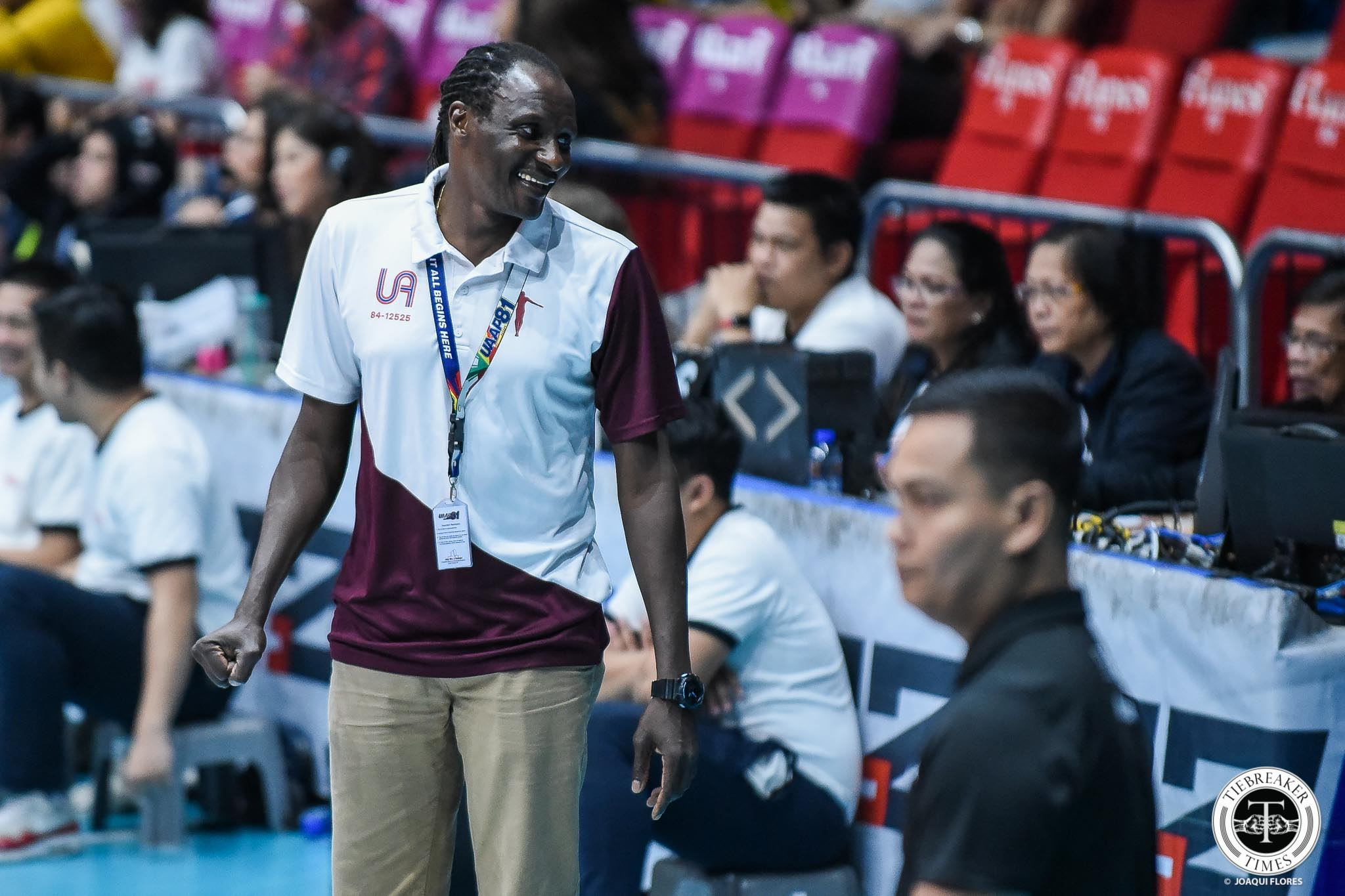 Tiebreaker Times Godfrey Okumu had run-in with immigration midway through season News UAAP UP Volleyball  UP Women's Volleyball UAAP Season 81 Women's Volleyball UAAP Season 81 Godfrey Okumu