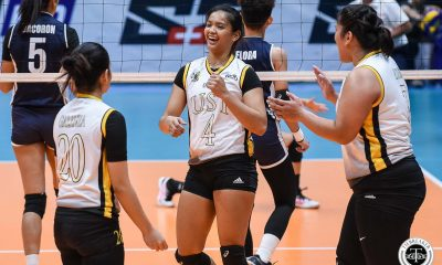 Tiebreaker Times Caitlin Viray shines as UST Tigresses crush Adamson for 6th win AdU News UAAP UST Volleyball  UST Women's Volleyball UAAP Season 81 Women's Volleyball UAAP Season 81 Onyok Getigan MaFe Galanza Kungfu Reyes Joy Dacoron Janel Delerio Eya Laure Caitlyn Viray Adamson Women's Volleyball