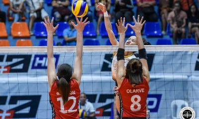Tiebreaker Times UST Golden Tigresses roll past UE for third straight win News UAAP UE UST Volleyball  UST Women's Volleyball UE Women's Volleyball UAAP Season 81 Women's Volleyball UAAP Season 81 Sisi Rondina Rey Karl Dimaculangan Mary Ann Mendrez MaFe Galanza Kungfu Reyes Judite Abil Janel Delerio Eya Laure