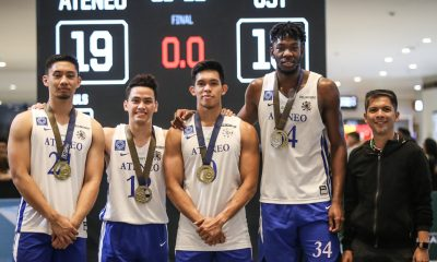 Tiebreaker Times Ateneo Blue Eagles add UAAP 3x3 trophy to collection 3x3 Basketball ADMU AdU DLSU FEU News NU UAAP UP UST  UAAP Season 81 Men's Basketball Thirdy Ravena Matthew Daves Matt Nieto Ateneo Men's Basketball Angelo Kouame