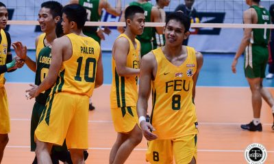 Tiebreaker Times FEU Tamaraws roll to first round sweep after crushing La Salle DLSU FEU News UAAP Volleyball  UAAP Season 81 Men's Volleyball UAAP Season 81 Rey Diaz Owen Suarez Jude Garcia JP Bugaoan Jeremiah Barrica JD Delos Reyes FEU Men's Volleyball DLSU Men's Volleyball Cris Dumago Arnold Laniog