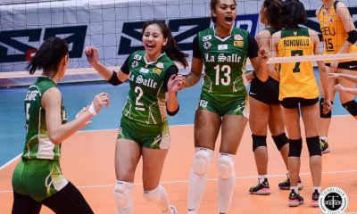 Tiebreaker Times La Salle Lady Spikers stomp FEU in Finals rematch DLSU FEU News UAAP Volleyball  UAAP Season 81 Women's Volleyball UAAP Season 81 Tin Tiamzon Ramil De Jesus Michelle Cobb May Luna Lycha Ebon George Pascua FEU Women's Volleyball DLSU Women's Volleyball Carmel Saga