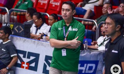 Tiebreaker Times Ramil De Jesus left to rue as F2 Logistics loses while La Salle wins on same day News PSL Volleyball  UAAP Season 81 Women's Volleyball UAAP Season 81 Ramil De Jesus F2 Logistics Cargo Movers DLSU Women's Volleyball 2019 PSL Season 2019 PSL Grand Prix