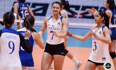 Tiebreaker Times Ateneo Lady Eagles stay on top to end first round, quell NU ADMU News NU UAAP Volleyball  UAAP Season 81 Women's Volleyball UAAP Season 81 NU Women's Volleyball Ateneo Women's Volleyball