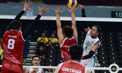 Tiebreaker Times DLSU Green Spikers whip UE to stay in Final Four race DLSU News UAAP UE Volleyball  Wayne Marco Victorio Turing UE Men's Volleyball UAAP Season 81 Men's Volleyball UAAP Season 81 Rafael Macaspac Lloyd Josafat JD Delos Reyes DLSU Men's Volleyball Cris Dumago Clifford Inoferio Arnold Laniog
