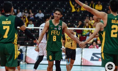Tiebreaker Times FEU Tamaraws pile on struggling UST's woes, clinch Final Four spot FEU News UAAP UST Volleyball  UST Men's Volleyball UAAP Season 81 Men's Volleyball UAAP Season 81 Rey Diaz Owen Suarez Odjie Mamon Jude Garcia JP Bugaoan Joshua Umandal Jeremiah Barrica Jayvee Sumagaysay FEU Men's Volleyball