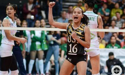 Tiebreaker Times UST Golden Tigresses leave frustrations in MOA Arena, hold players-only meeting News UAAP UST Volleyball  UST Women's Volleyball UAAP Season 81 Women's Volleyball UAAP Season 81 Eya Laure Cherry Rondina