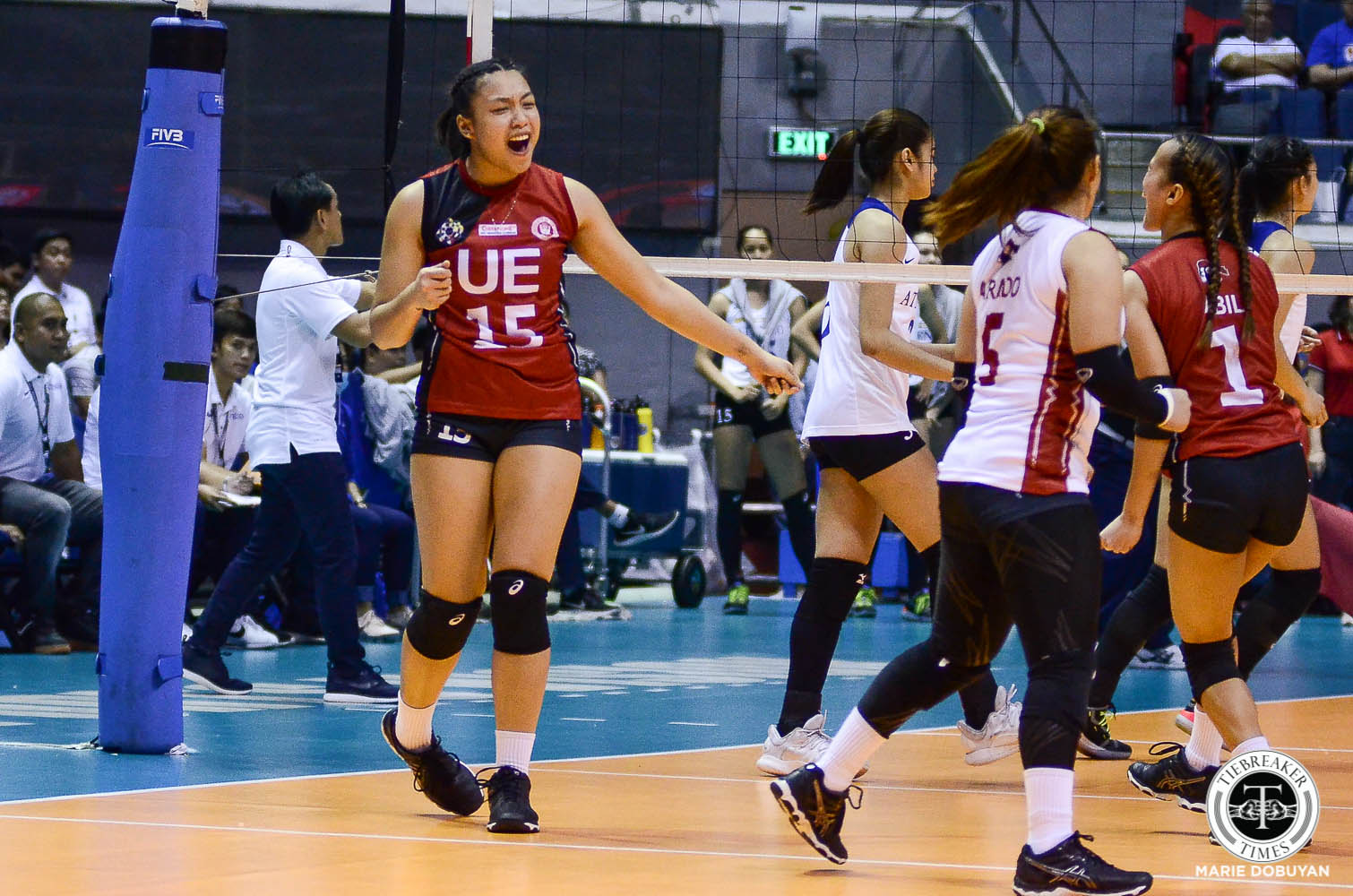 Tiebreaker Times Me-Anne Mendrez chooses to see bright side of getting tonsillitis News UAAP UE Volleyball  UE Women's Volleyball UAAP Season 81 Women's Volleyball UAAP Season 81 Me-Anne Mendrez Jasmine Alcayde