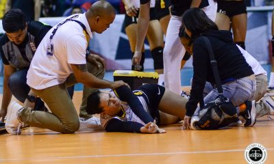 Tiebreaker Times Milena Alessandrini expected to miss two weeks News UAAP UST Volleyball  UST Women's Volleyball UAAP Season 81 Women's Volleyball UAAP Season 81 Milena Alessandrini