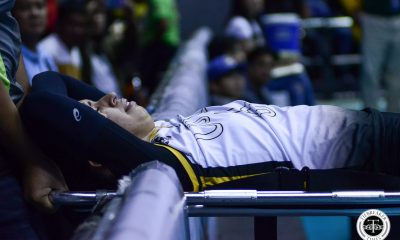 Tiebreaker Times Ligament damage feared as Milena Alessandrini suffers gruesome fall News UAAP UST Volleyball  UST Women's Volleyball UAAP Season 81 Women's Volleyball UAAP Season 81 Milena Alessandrini