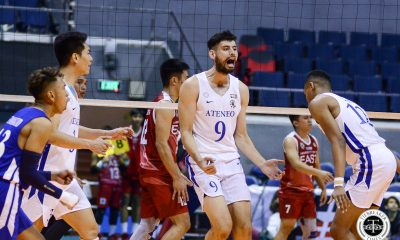 Tiebreaker Times Ateneo Blue Eagles arrest two-game slide, slam UE ADMU News UAAP UE Volleyball  UE Men's Basketball UAAP Season 81 Men's Volleyball UAAP Season 81 Tony Koyfman Timmy Sto. Tomas Ron Medalla Noel Alba Manuel Sumanguid Lawrence Magadia Clifford Inoferio Ateneo Men's Basketball